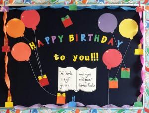 Birthday Books Bulletin Board