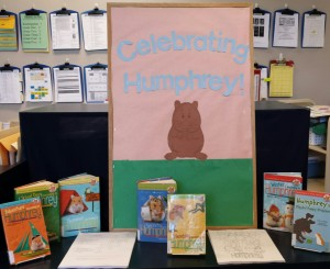 Celebrating Humphrey book display