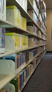 fiction shelves