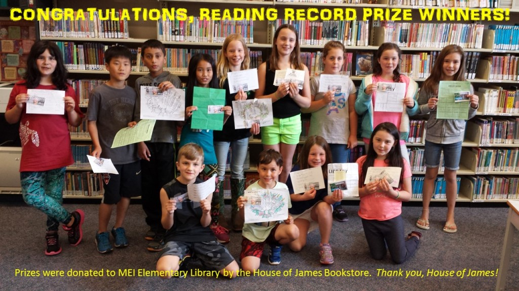 READING RECORD PRIZE WINNERS titled